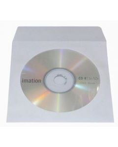 Paper CD/DVD Wallets - White