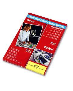 Folex A4 Universal Colour Copier & Laser Printer Transparency Film BG-71