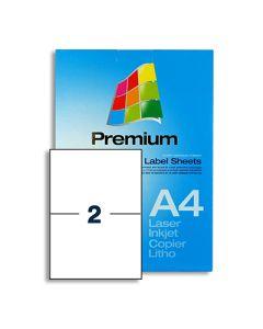 2 Labels per A4 sheet - EL2