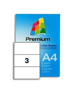 3 Labels per A4 sheet - EL3