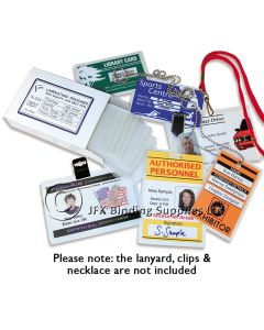I.D. Sized 250 Micron Gloss Laminating Pouches With A Slot