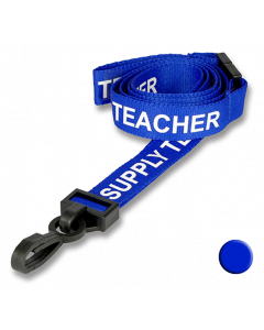 Supply Teacher Lanyards blue