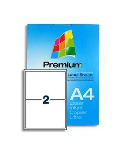 2 Labels per A4 sheet - LL2