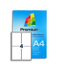 4 Labels per A4 sheet - LL4