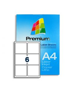 6 Labels per A4 sheet - LL6
