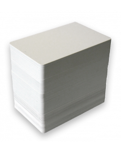 Blank White Plastic (PVC) CR80 ID Cards - Plain