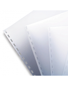 A4 Clear PVC Binding Covers Punched 21 Holes