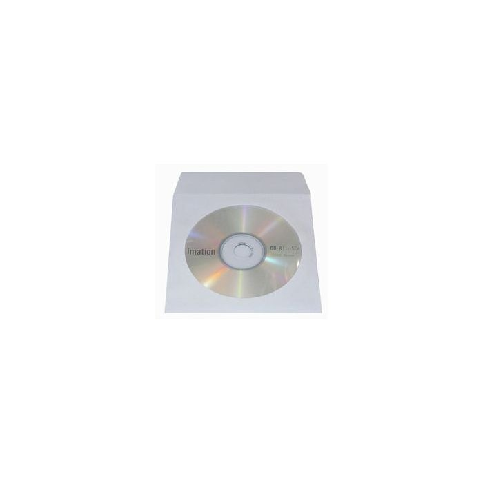 Paper CD/DVD Wallets - White