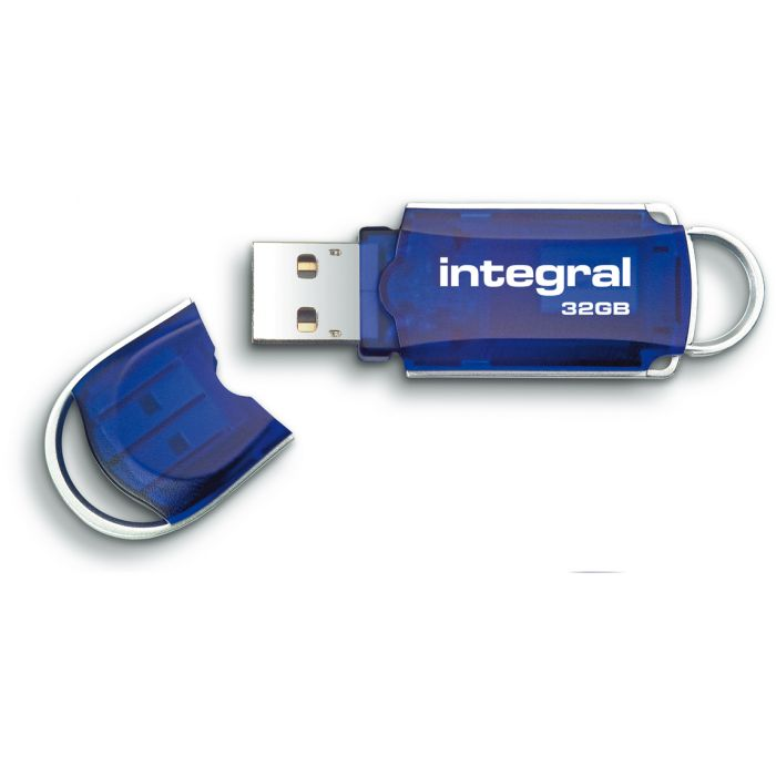Integral Courier 32GB USB Flash Drive lid
