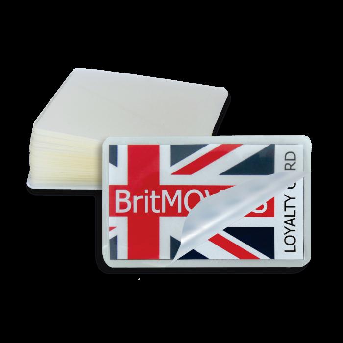 Credit Card 250 Micron Gloss Laminating Pouches