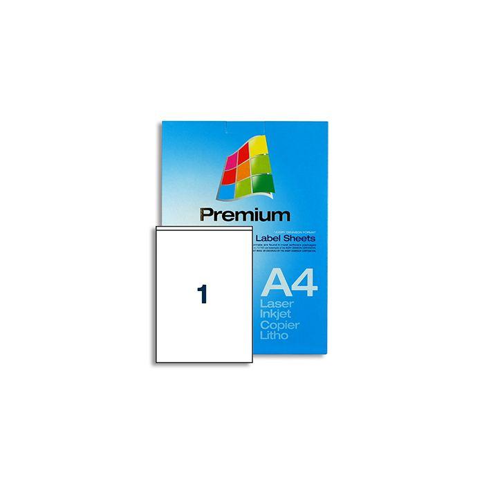 1 Label per A4 sheet - EL1S