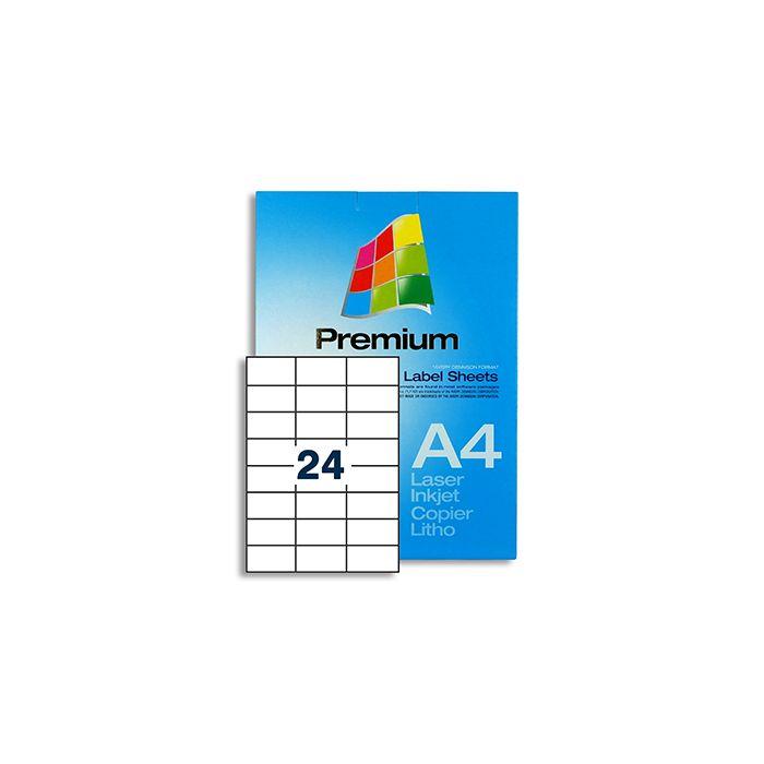 24 Labels per A4 sheet - EL24
