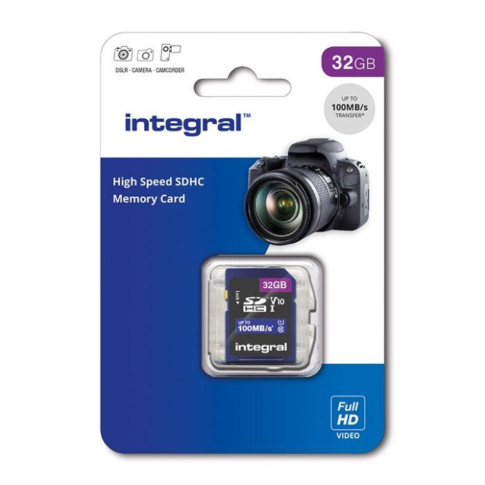 32GB Integral High Speed SDHC Card