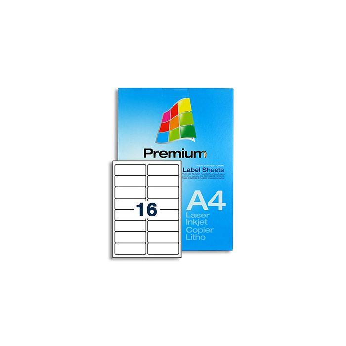 16 Labels per A4 sheet - LL16