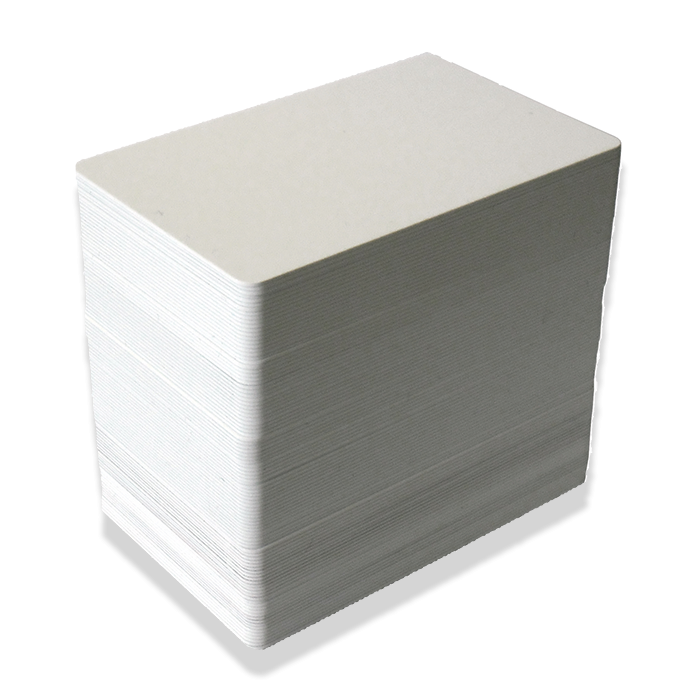 Blank White Plastic (PVC) CR80 ID Cards - Plain