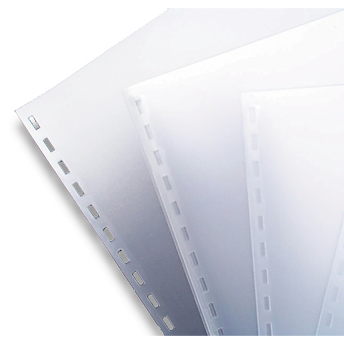A4 Clear PVC Binding Covers Punched 20 Holes