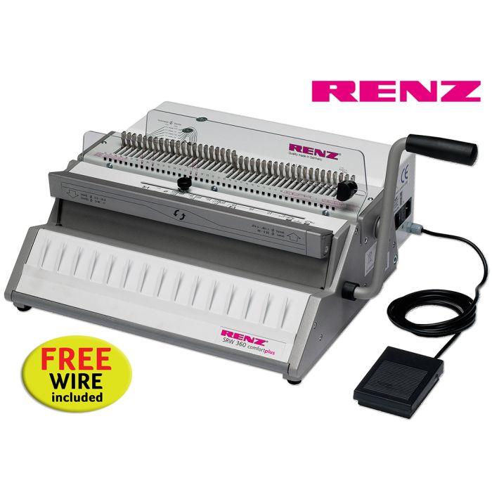 Renz SRW 360 Comfortplus 3:1 Electric Wire Binding Machine offer