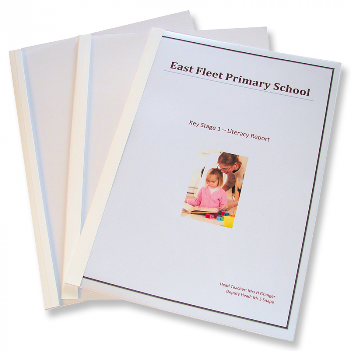 A4 Large Gloss Thermal Binding Covers