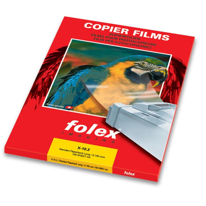 Folex A4 Paperbacked on L/E Monochrome Copier Transparency Film X-10.2