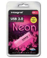 Integral Neon 64GB USB 3.0 Flash Drive package