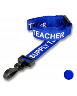 Supply Teacher Lanyards blue