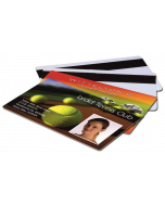 Blank White Plastic (PVC) CR80 Cards - Magnetic