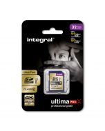 32GB UltimaPro X SDHC Card package