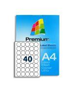 SLr32 White Multipurpose Labels