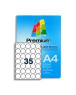 SLr37 White Multipurpose Labels