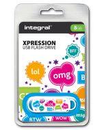 Integral Xpression TXT 8GB USB Flash Drive package